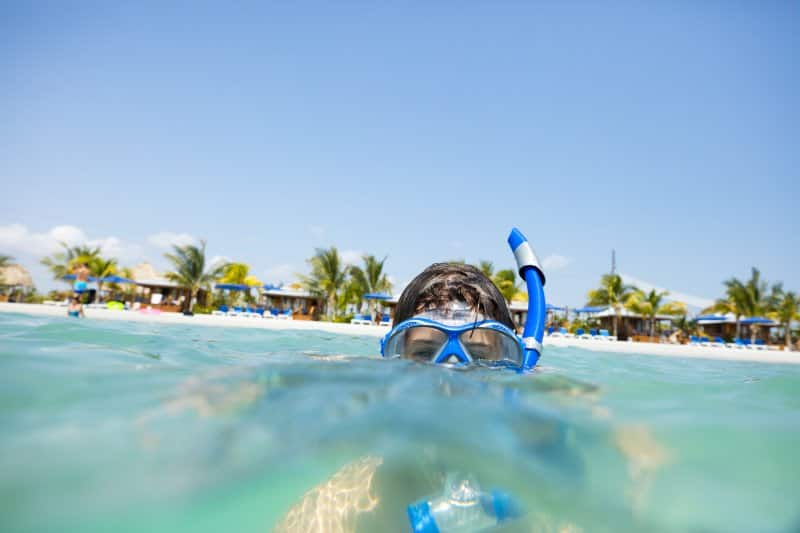 Swim and Play in Harvest Caye