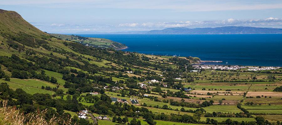 Sweeping plains in the Antrim Glens on your Belfast cruise