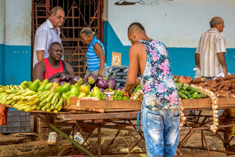 Street Market in Cuba