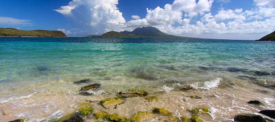 See all shades of blue when you cruise to St. Kitts
