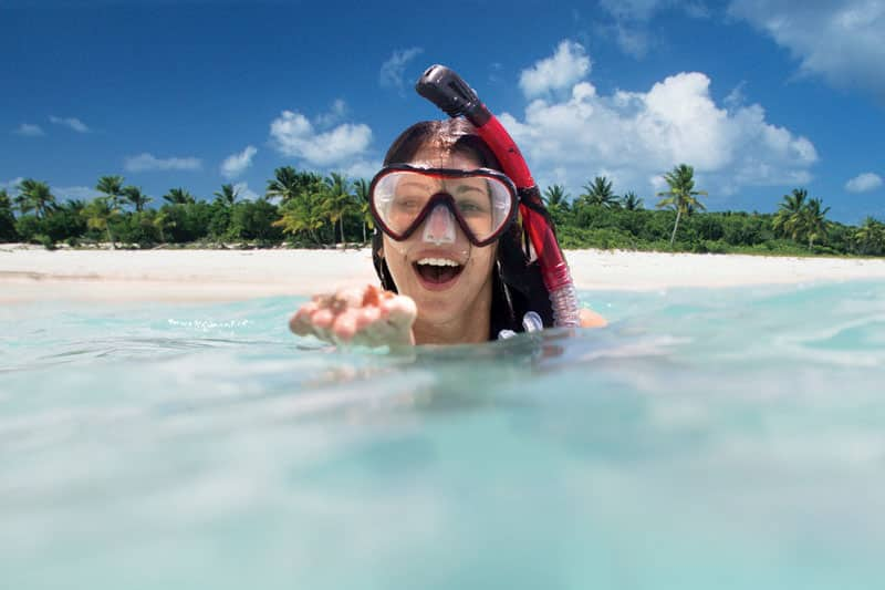 Snorkel in The Caribbean on a Family Cruise Shore Excursion