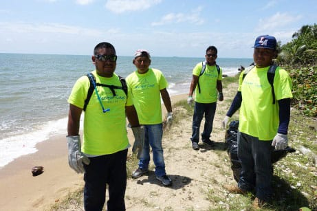 Harvest Caye Community Beach Cleanup