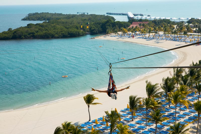 Zipline in the Caribbean