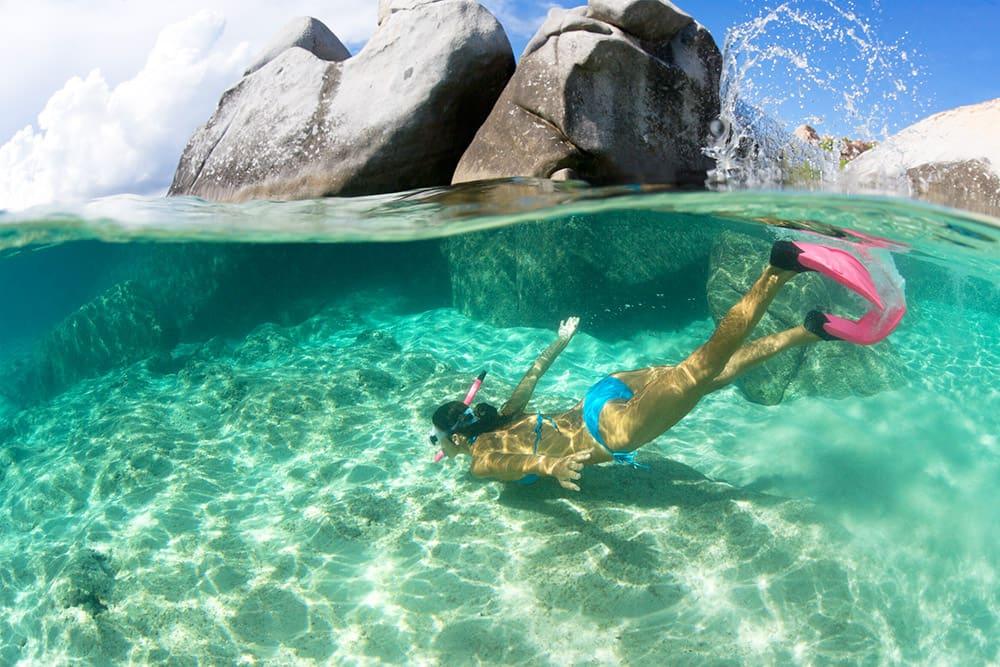 Buceo de superficie en Tórtola