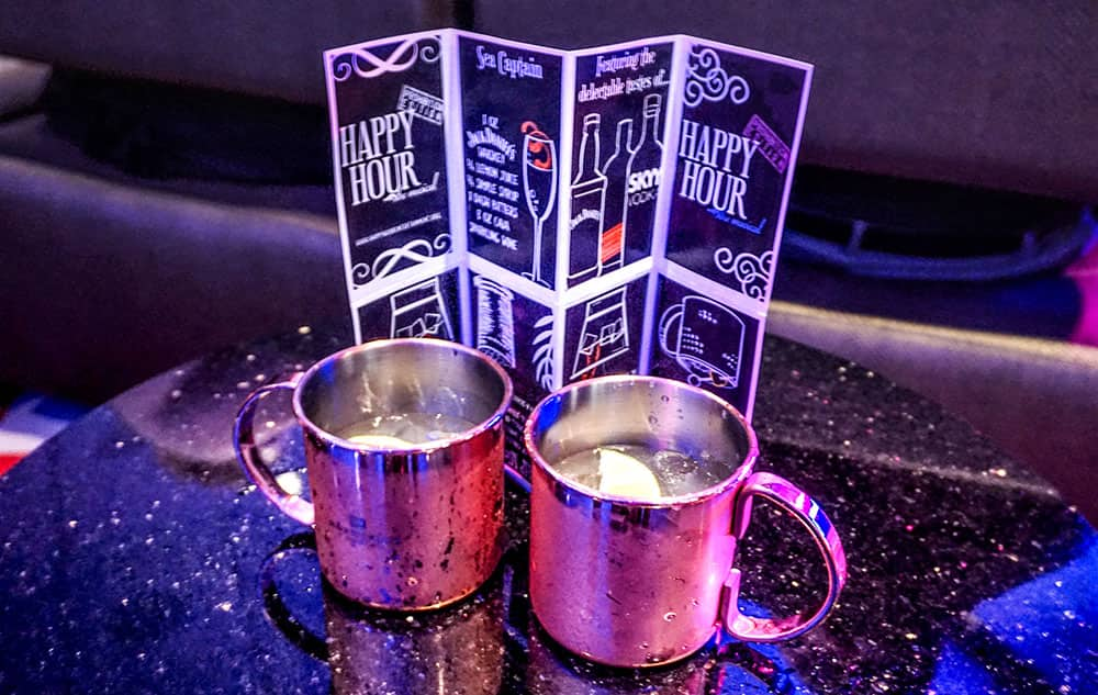 Cocktails at Happy Hour Prohibition - The Musical on Norwegian Bliss