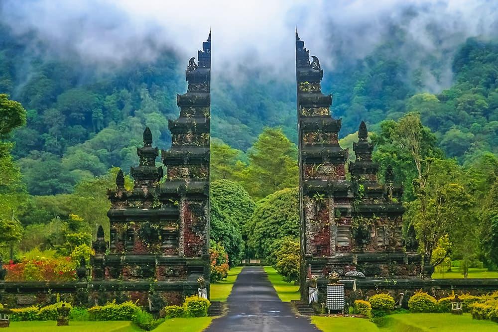Hindu Temple Gates Bali
