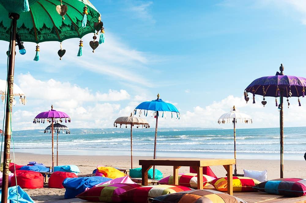 Kuta, Bali, Indonesia Colorful Beach Umbrellas