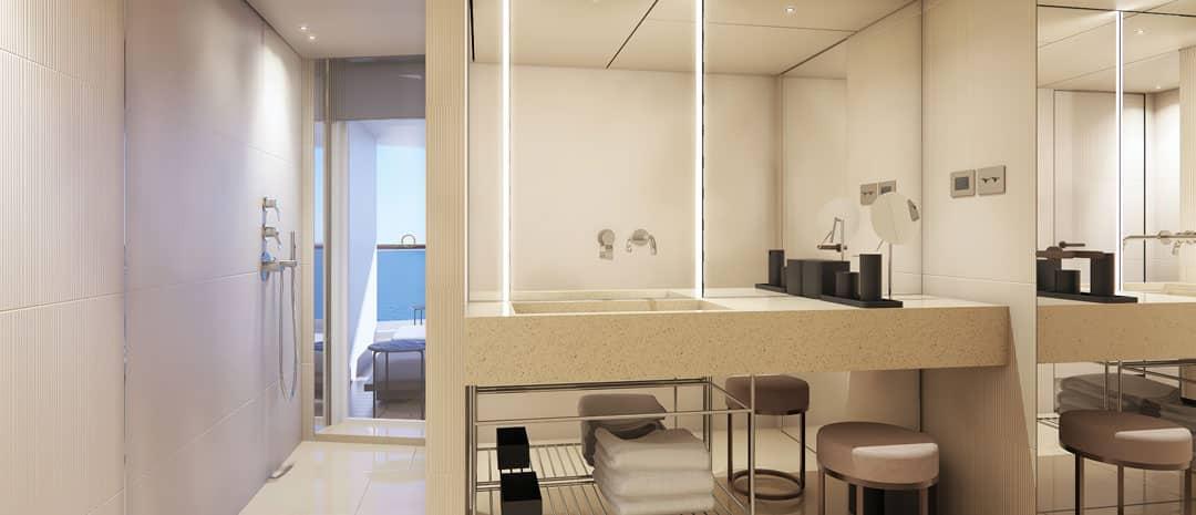 HA - Salle de bain du penthouse arrière The Haven