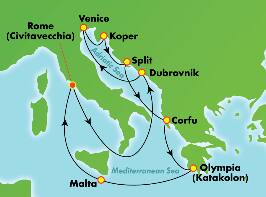 11-Day Mediterranean & Adriatic from Rome (Civitavecchia)