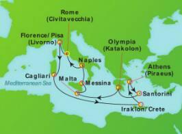 11-Day Mediterranean & Greece from Rome (Civitavecchia)