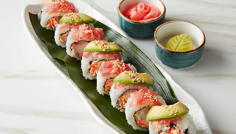 Rollo de sushi en Food Republic
