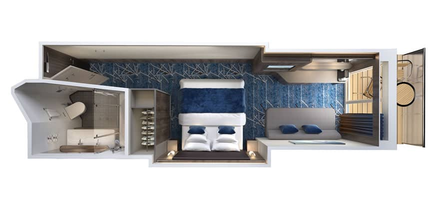 Floor plan Sail Away Club Balcony Suite