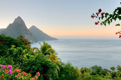 Beautiful beaches in St Lucia Caribbean Cruises
