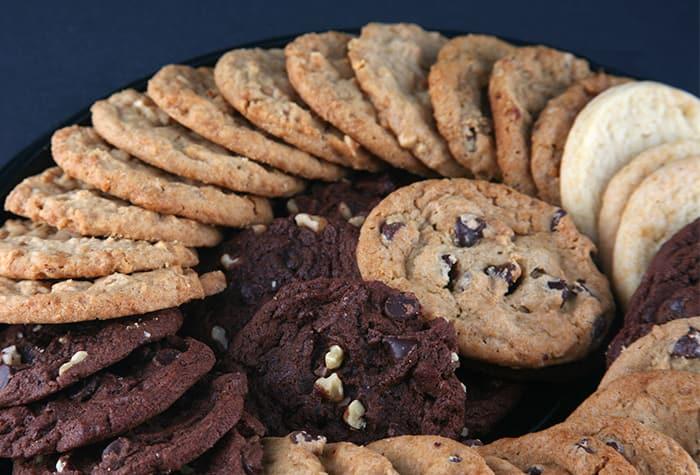 Grand assortiment de biscuits