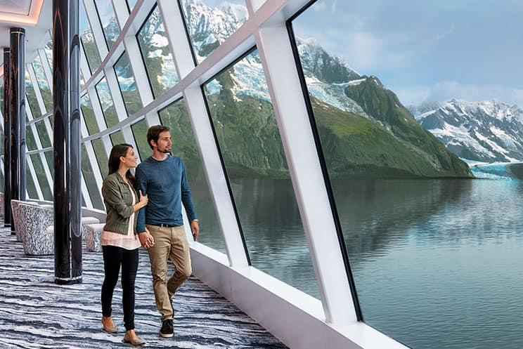 Acércate a los magníficos glaciares en un crucero por Alaska