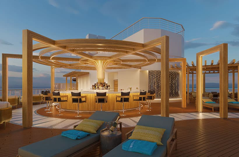 Bar del Vibe Beach Club