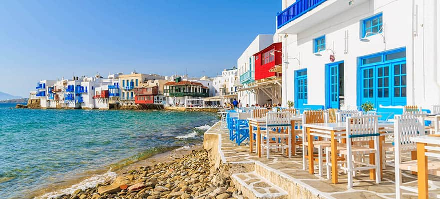 Islas griegas, viaje de ida y vuelta desde Venecia:Santorini, Miconos y Croacia, 9 días