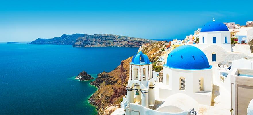 Islas griegas, viaje de ida y vuelta desde Atenas:Santorini, Patmos e Israel, 7 días