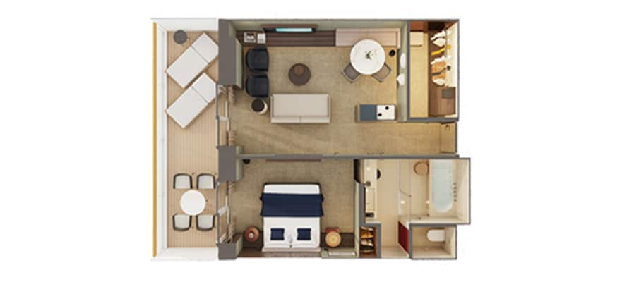 Plan de l'Owner's Suite The Haven