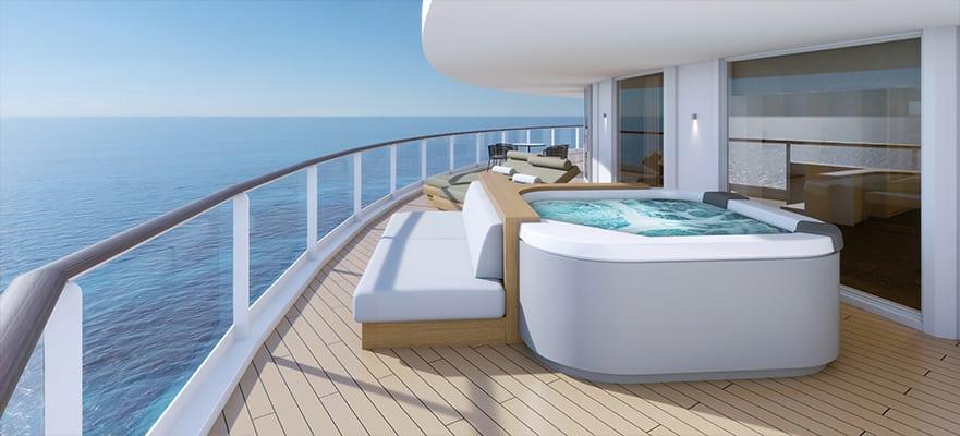 H4 - Owner's Suite The Haven arrière avec chambre principale et grand balcon