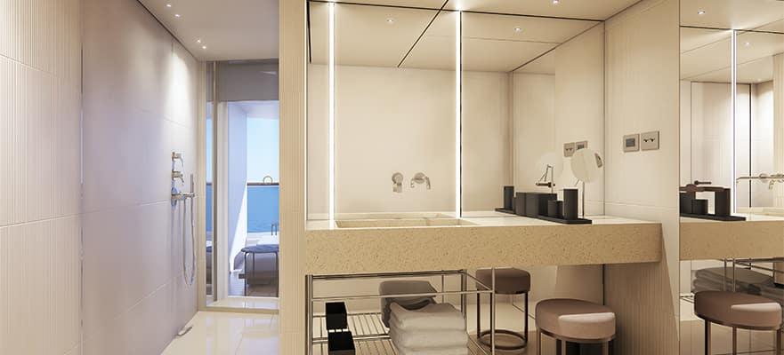 Salle de bain du penthouse arrière The Haven