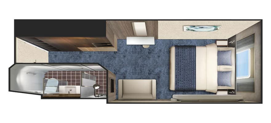 Floor plan Deluxe Oceanview