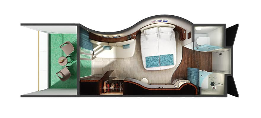 Floor plan Sail Away Balcony
