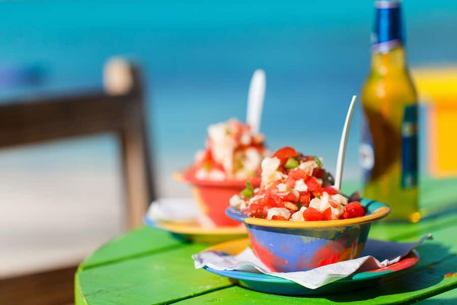 Indulge in traditional Bahamian Conch on the Beach