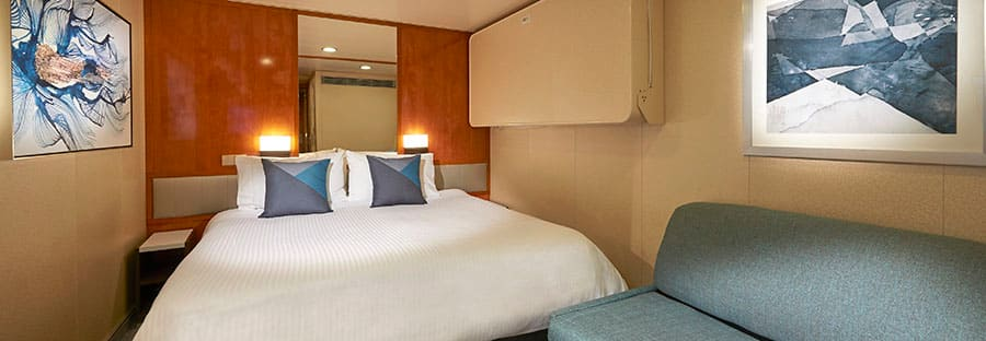 Cabine interna do Norwegian Sun – renovada em 2018