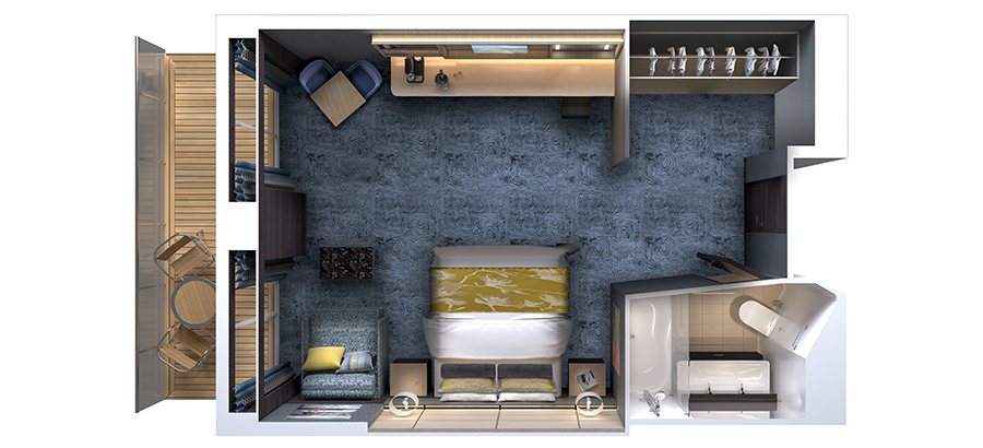 Floor plan Concierge Villa Suite with Balcony