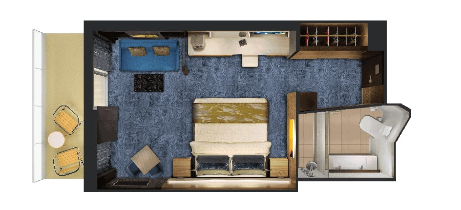 Floor plan Haven Suite with Balcony