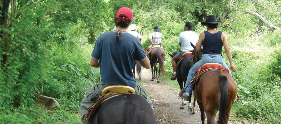 Horseback riding on your Mexican Riviera cruise