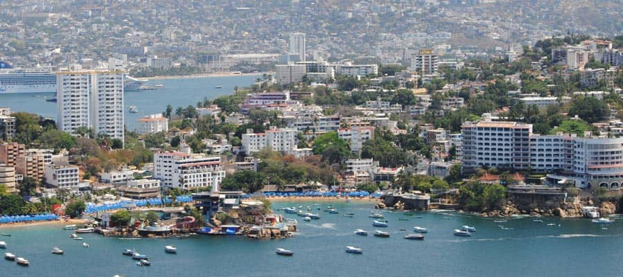 View of Acapulco on your Mexican Riviera Cruise
