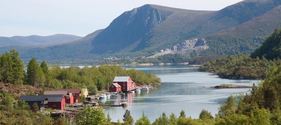 Malerische Landschaft in Norwegen – Europakreuzfahrt