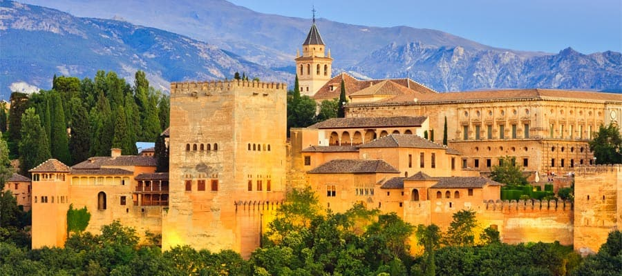 Alhambra palace on your Europe cruise