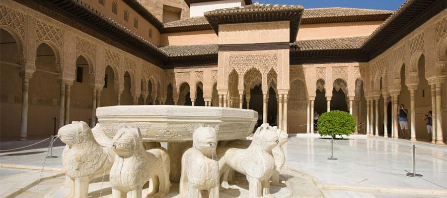 Cruise to The Court of the Lions on your Spain vacation