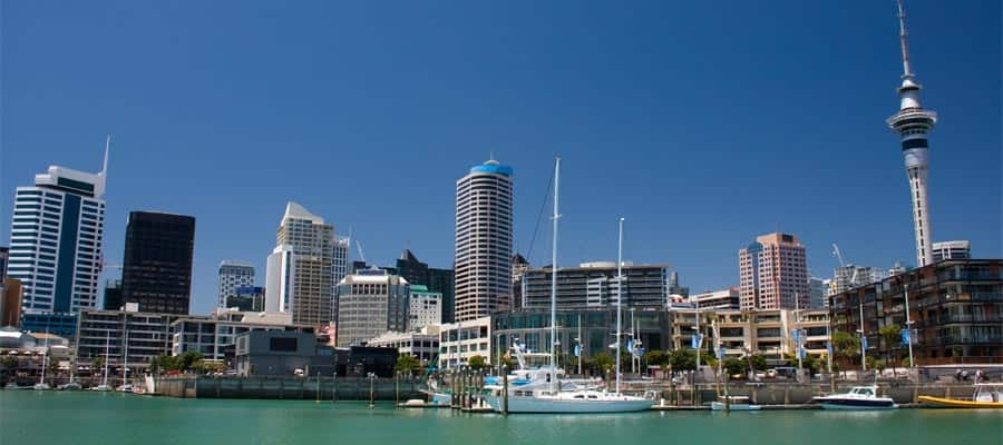 City waterfront on Auckland Cruises