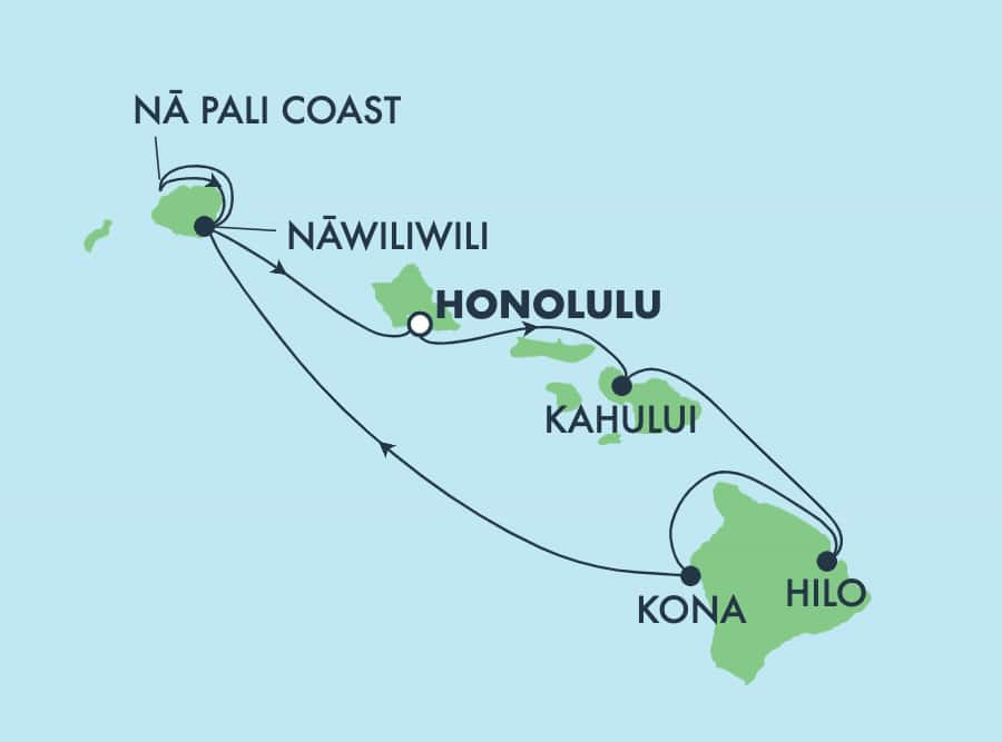 7-Day Hawaii, Round-trip Honolulu