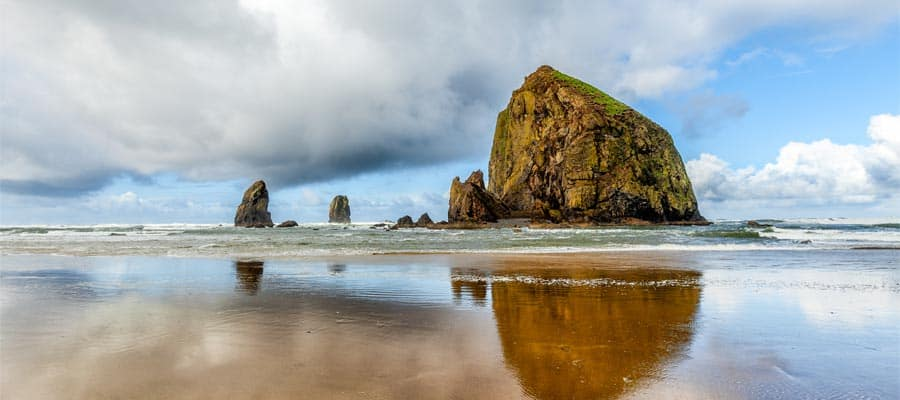 Haystack Rock on your Pacific Coastal cruise