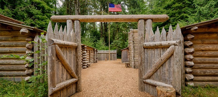 Lewis and Clark Fort Clatsop on your Pacific Coastal cruise