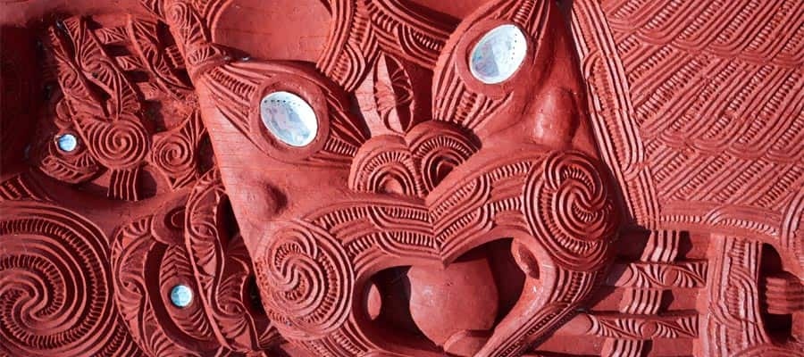 Maori carving on an Australia cruise