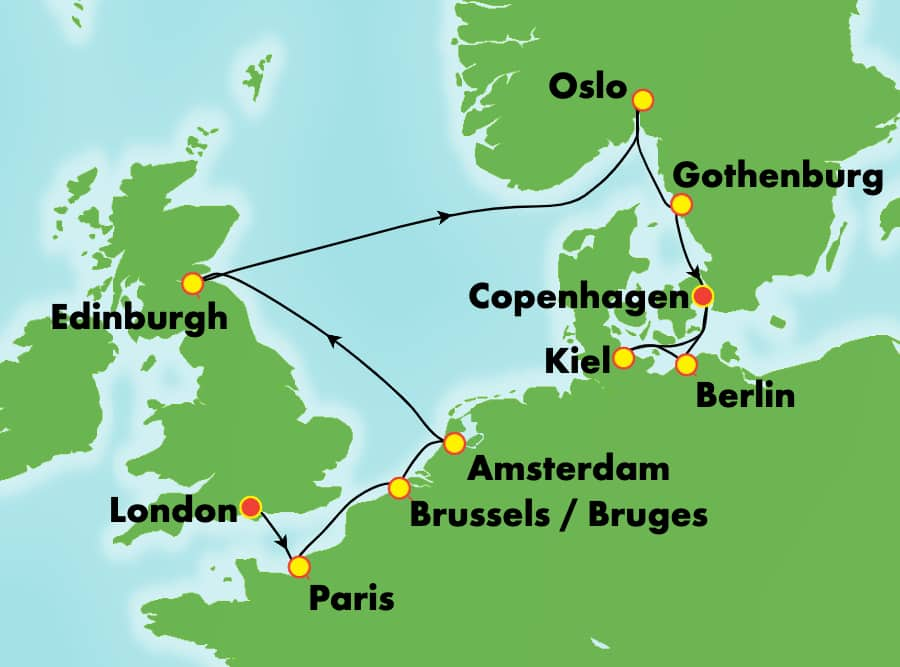 11-Day Europe from London to Copenhagen: France, Germany & Norway