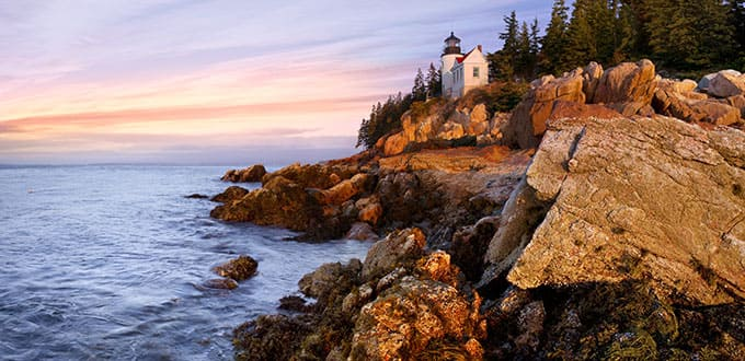 Find natural charm along New England's rocky coastlines.