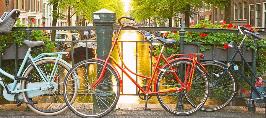 Bike through Amsterdam on your Europe cruise