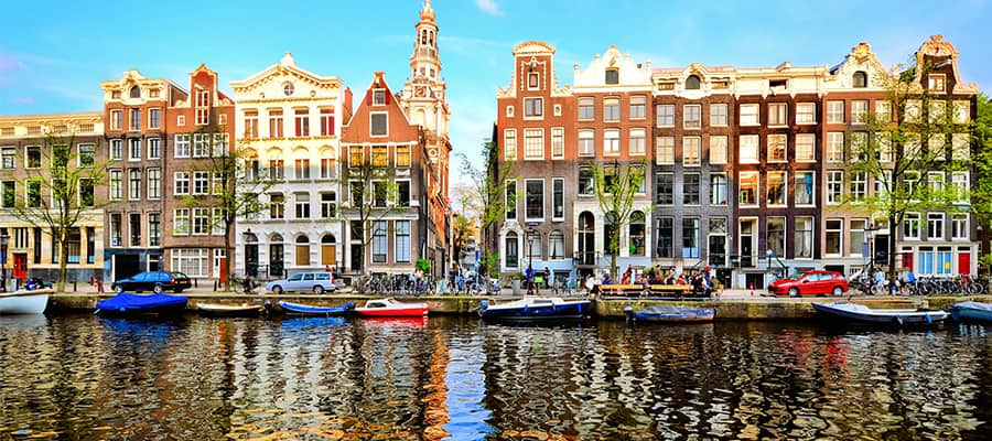 Take in the sights on your cruise to Amsterdam