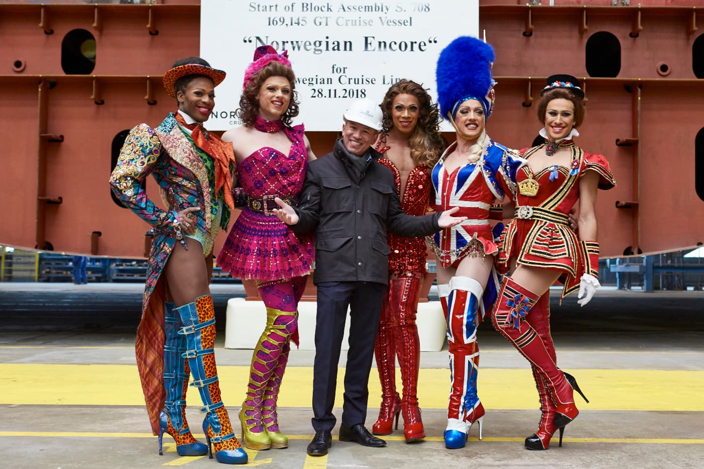 Andy Stuart, Lola and the Angels from Kinky Boots