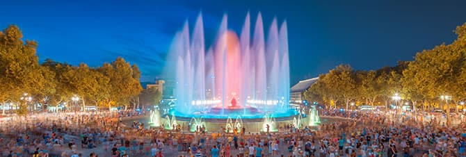 Witness the breathtaking Magic Fountain Show