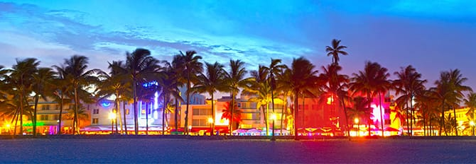 South Beach, vie nocturne à Miami
