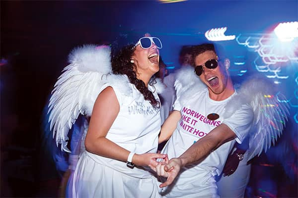 You can get your energy flowing at the White Hot Party