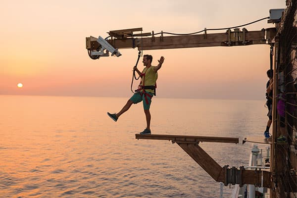 Stay active at sea with the Norwegian Sports Complex, including walking The Plank